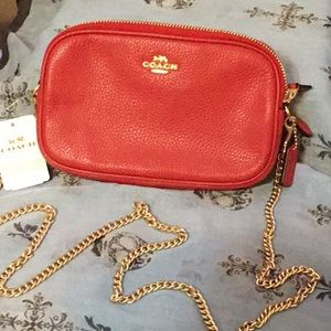 Coach purse with chain strap